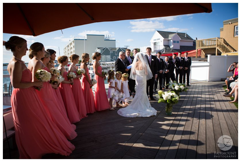 wedding vows at ceremony by the bay in Stone Harbor, NJ