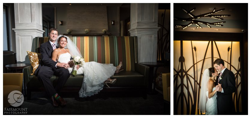 indoor bridal portraits at The Reeds at Shelter Haven