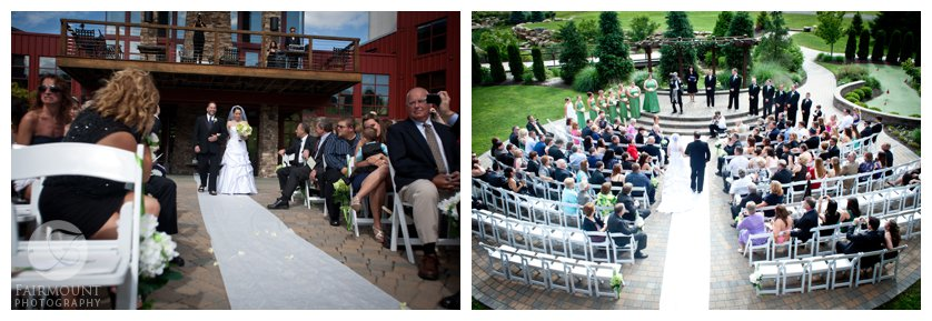 Wedding ceremony overview at Bear Creek Mountain Resort in the Lehigh Valley