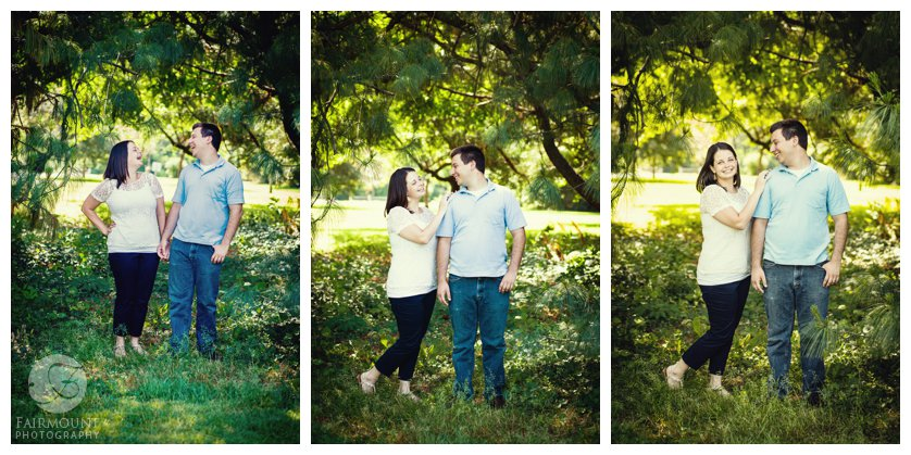 Fairmount Park engagement portraits