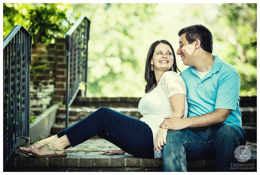 Fairmount Park engagement photo