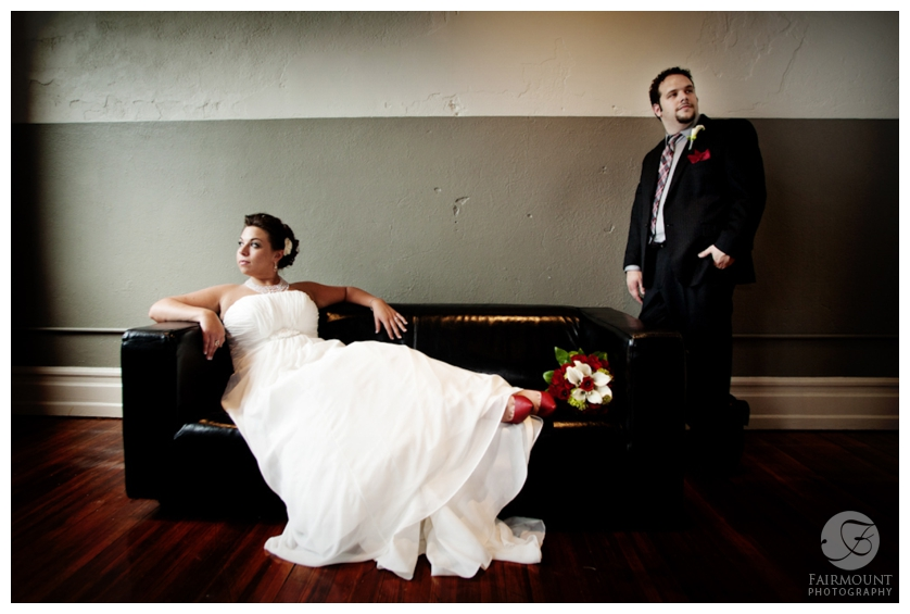 Bridal Portrait in the FIVE room at Allentown Brew Works
