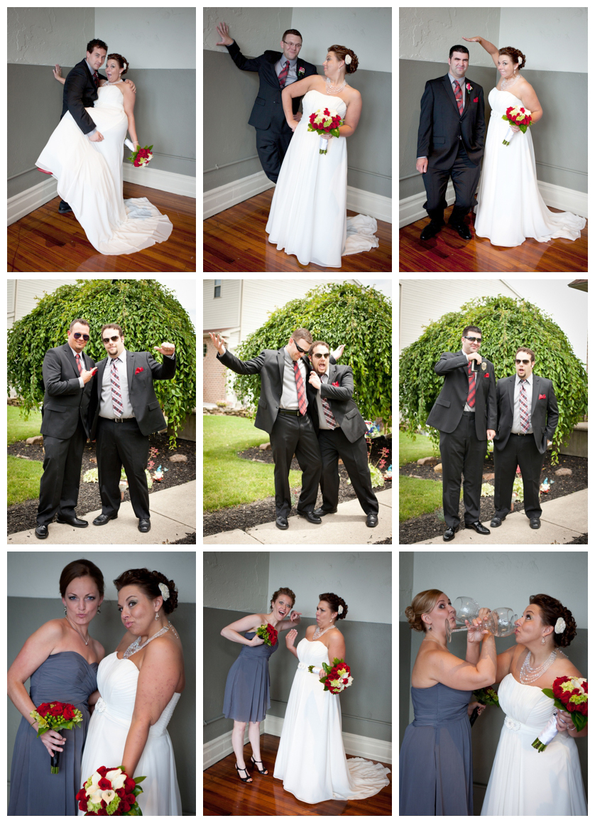 fun portraits with bridesmaids and groomsmen