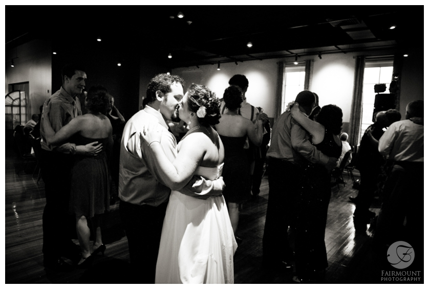 bride & groom on the dance floor at FIVE in Brew Works