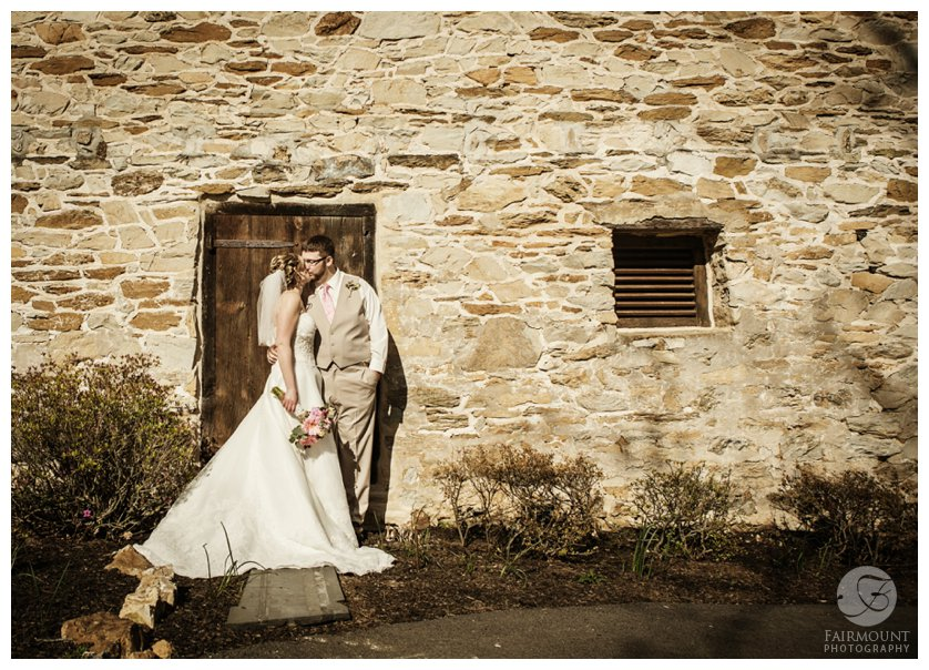 Wedding portrait at Duportail House in Chesterbrook, PA