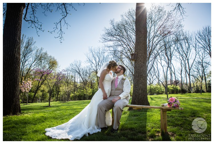 Spring wedding portraits near Valley Forge Park, PA