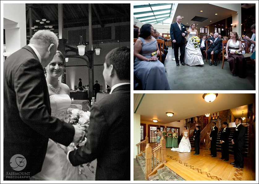 ceremony in Knowlton Mansion conservatory