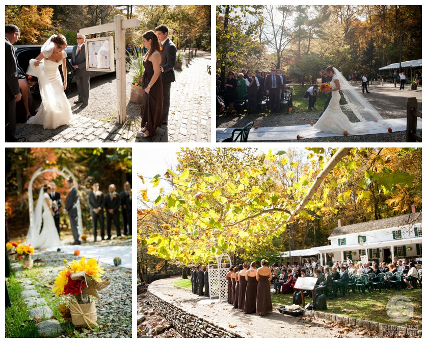 Wedding at Valley Green Inn near Wissohickon Creek in Fairmount Park