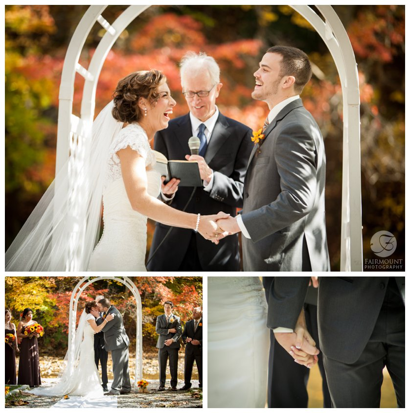 Outdoor fall wedding in Fairmount Park, Philadelphia