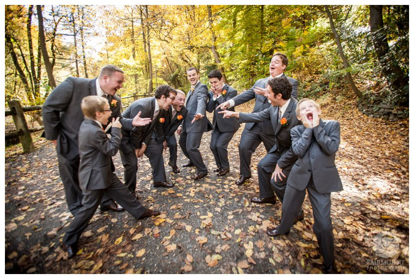Groomsmen over-react to groom's wedding ring