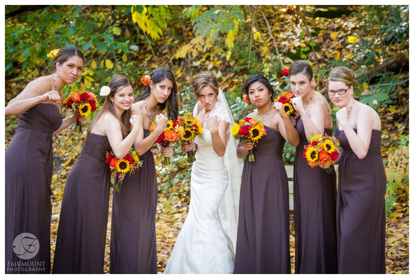 Bridesmaids show off their tough side