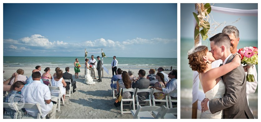 a destination wedding on the beach behind Casa Ybel Resort in Sanibel Island, FL