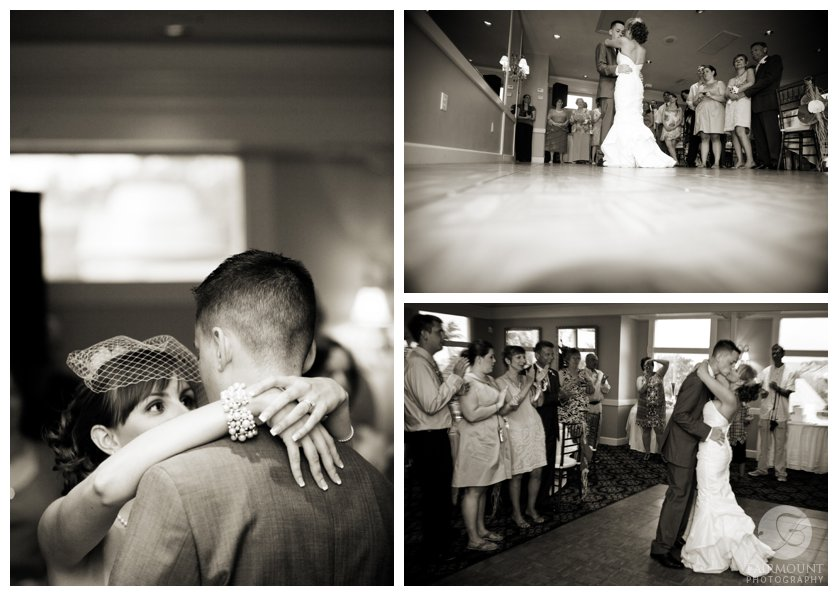 bride and groom's first dance at Casa Ybel wedding reception in Sanibel Island, FL