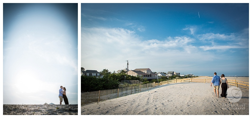 New Jersey Beach Engagement Portrait Strathmere