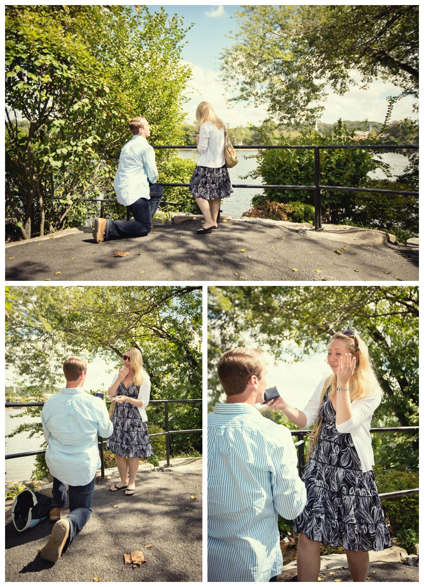 Man proposes to girlfriend in New Hope park