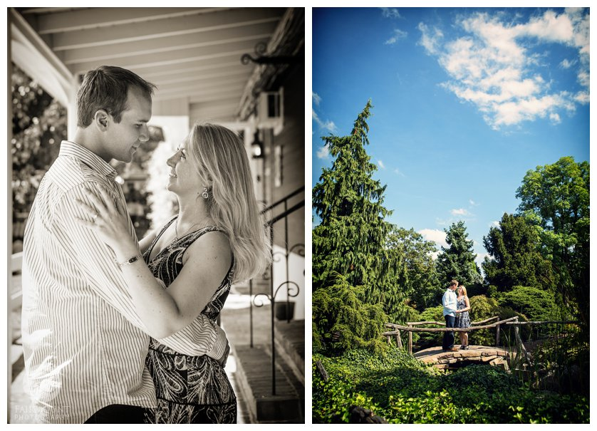 Peddler's Village portraits after wedding proposal