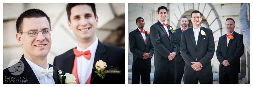 Groomsmen at Nemours Mansion