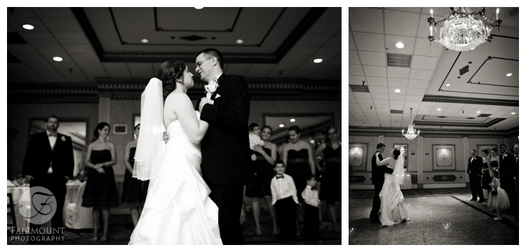 first dance during wedding reception at Mendenhall Inn near Philadelphia