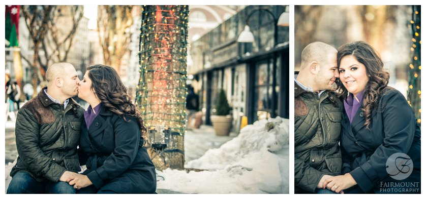 Snowy engagement photos outside Quincy Market00