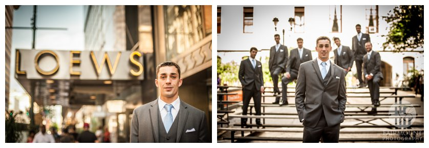 Groom & groomsmen in center city Philadelphia