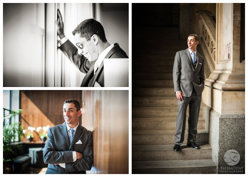 Portraits on Groom in Center City Philadelphia