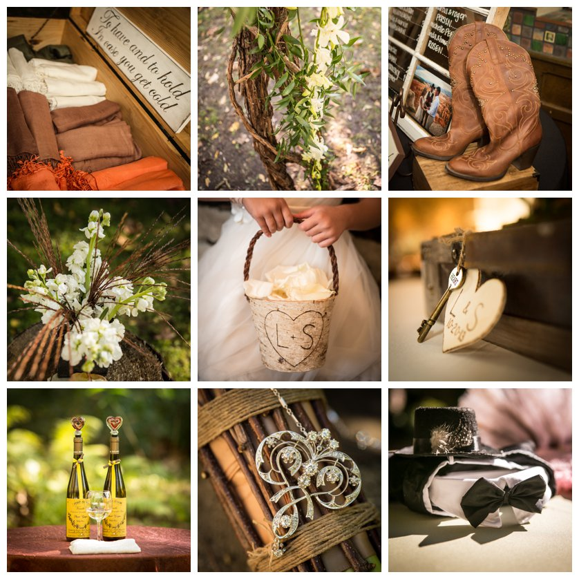 rustic fall wedding details