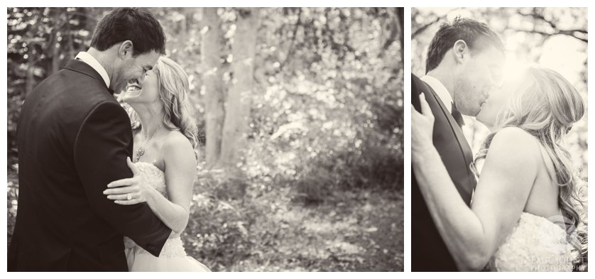 Bride and Groom portraits in the woods in Media, PA