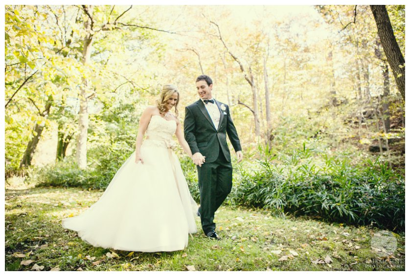 Fall wedding portrait at the Old Mill in Rose Valley