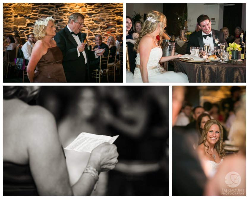 Philadelphia wedding reception at rustic venue