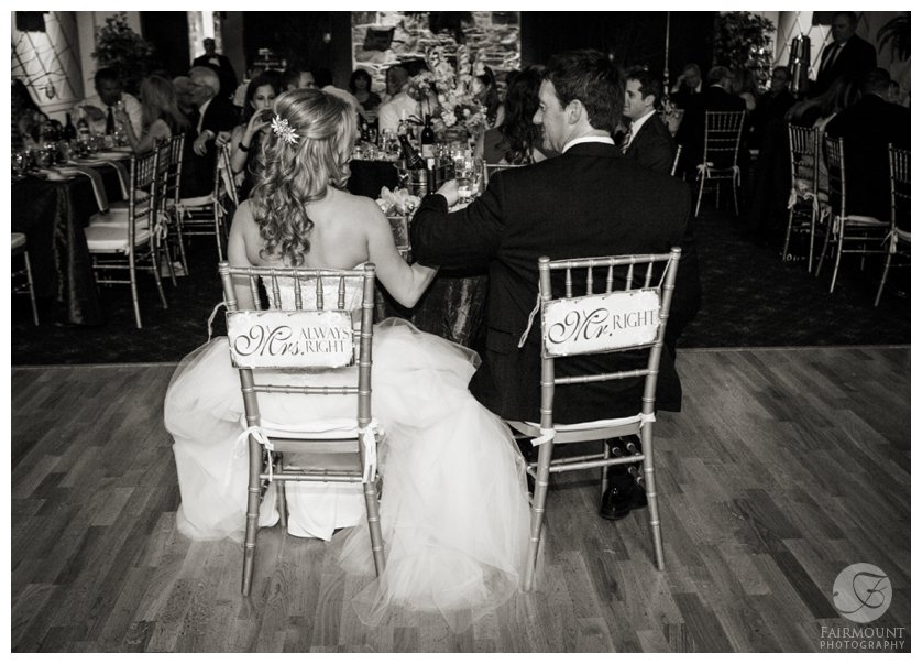 Mr. Right and Mrs. Always Right wedding signs