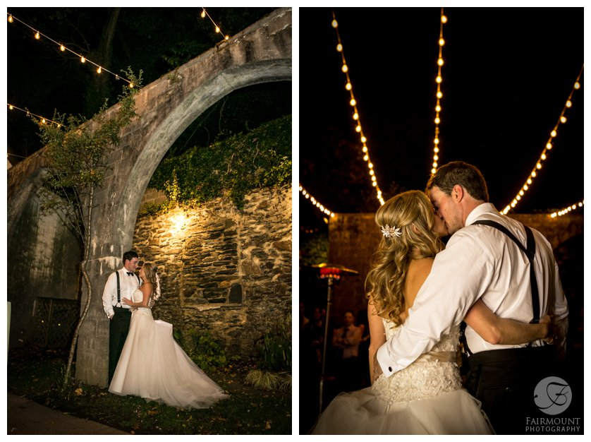 Night portraits at The Old Mill in Rose Valley by Fairmount Photography