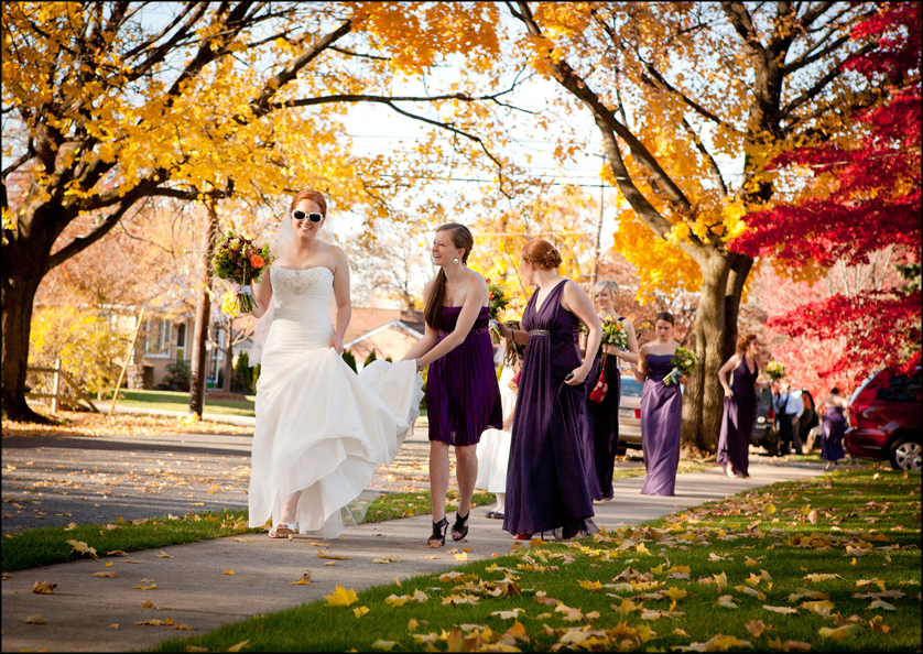Beautiful fall colors and bridal party
