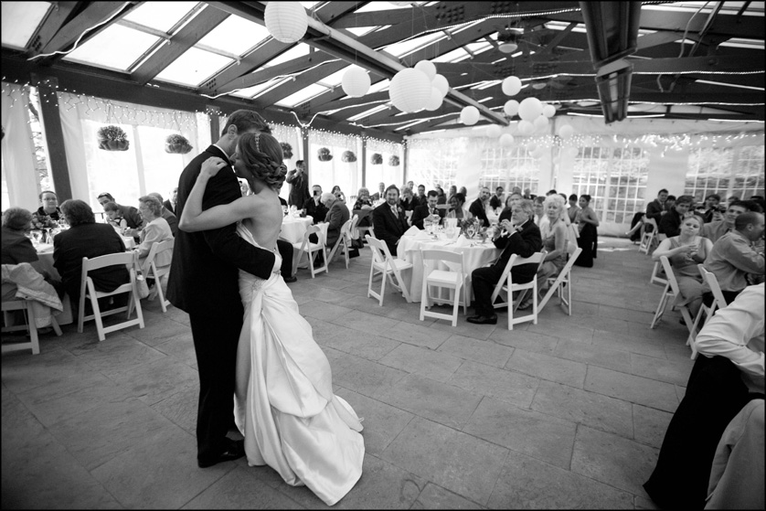 First dance as a married couple at the Valley Green Inn