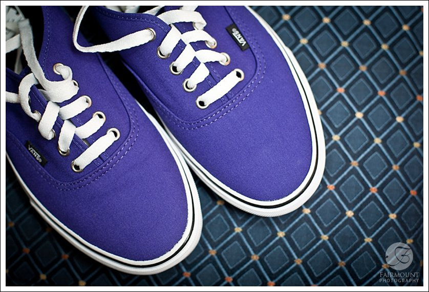 groom's purple vans