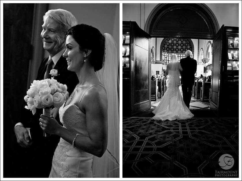 Bride and father enter historic church in Philadephia, PA