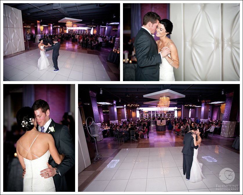 white dance floor with white tufted walls at Tendenza