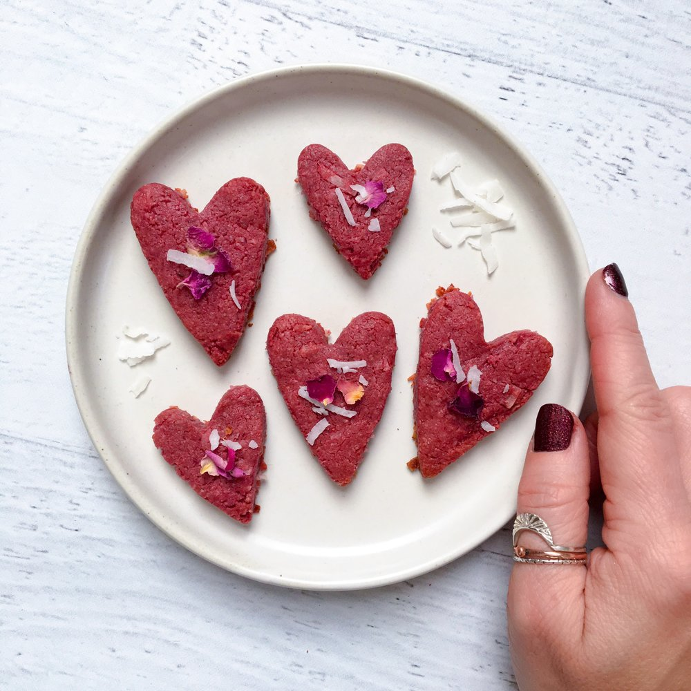Beet Coconut Sugar Cookies by Whitespace and Wellness