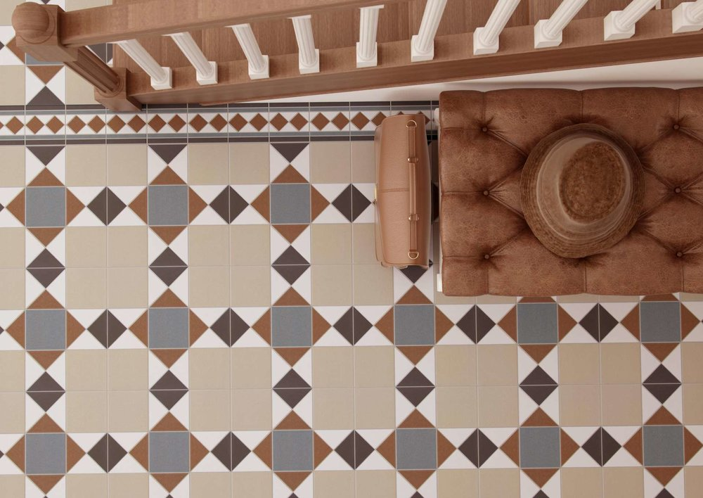 Victorian Era Tiles Hallway Interiors