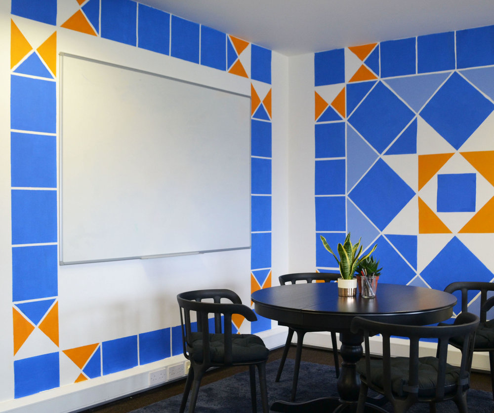 Victorian Tile Mural, Spacey Studio, Interior Design.