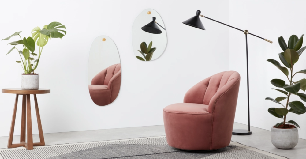 The Coco Medium Wall Mirror. Made.com. €79 ex. P&P. 3-5 days delivery.