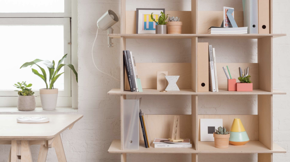 The Linnea Bookshelf is a lightweight, elegant shelving system which takes inspiration from traditional joinery. €440 – €590.