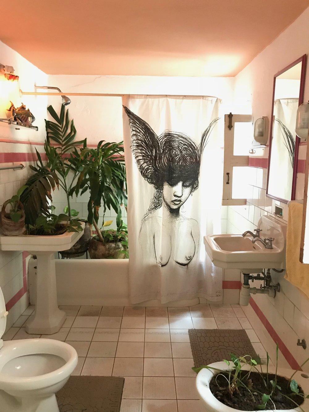 Plant Pink Bathroom Interiors