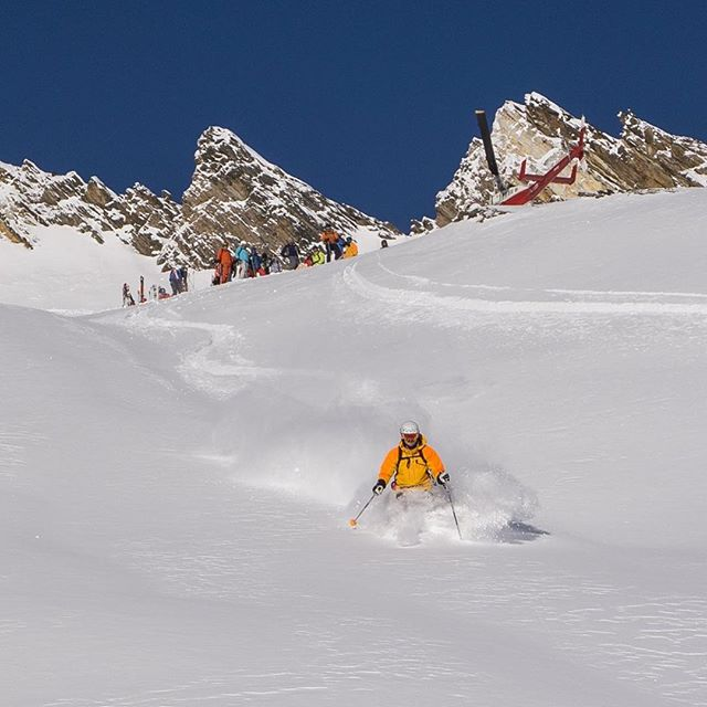 Life is good. #heliskiing with #cmhheli at #cmhgothics 😁