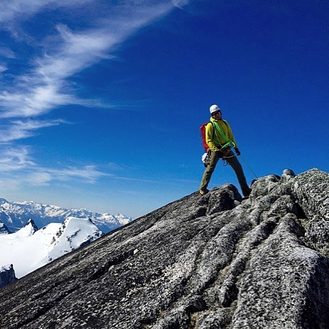 Short roping is a dark art...but very satisfying. Climbing in the Bugaboos. #alpineclimbing #climbing #shortroping #guiding #bugaboos #YesGoldenBC