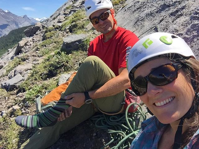 Good times in the Canadian Rockies with @colleen_gentemann #rockclimbing #canadianrockies #climbing