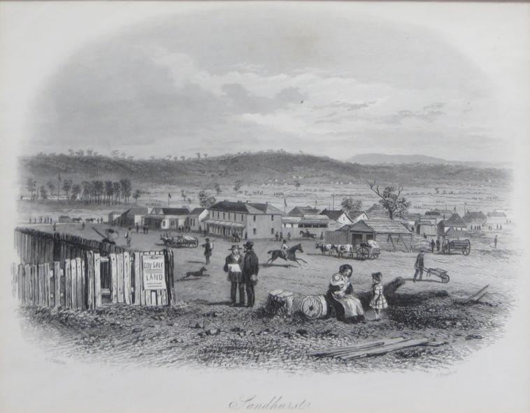 Sandhurst (Bendigo), S. T. Gill (1857)