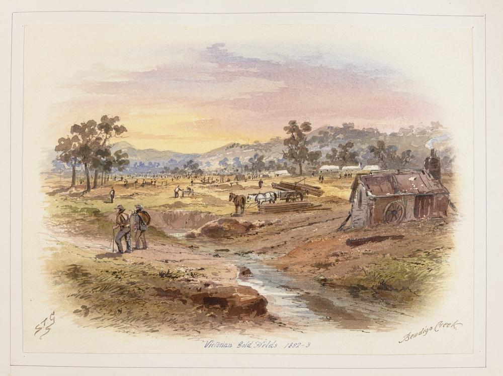 Bendigo Creek, S. T. Gill (1869)