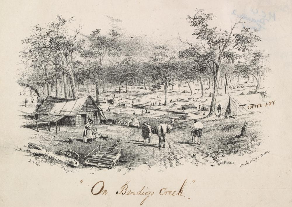 On Bendigo Creek, S. T. Gill (1852)