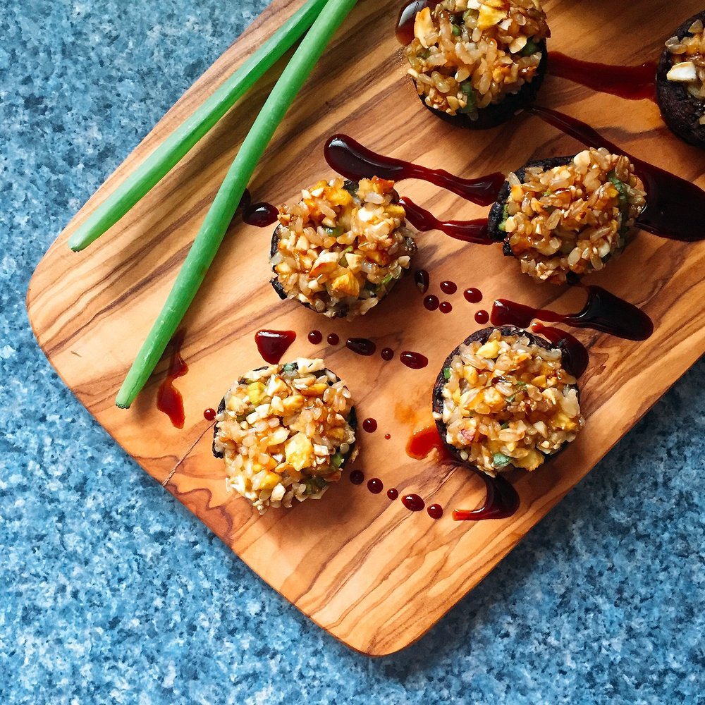 Teriyaki Stuffed Mushrooms - These teriyaki stuffed mushrooms by Health Coach Philly look BOMB and would be a hit at any family gathering!