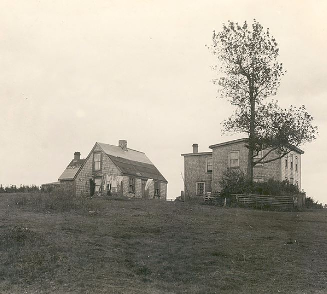 HOUSES BELONGING TO THE COLLEY FAMILY, ON THE SITE OF GOVERNOR'S FARM, PRESTON